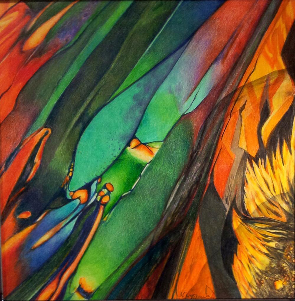 Farbenmeer, 30x30cm